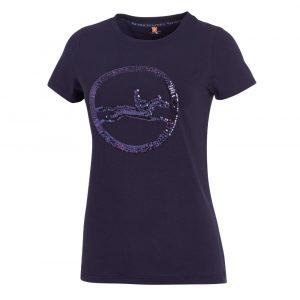 Schockemohle-Lola-Style-Ladies-Round-Neck-T-Shirt-Navy
