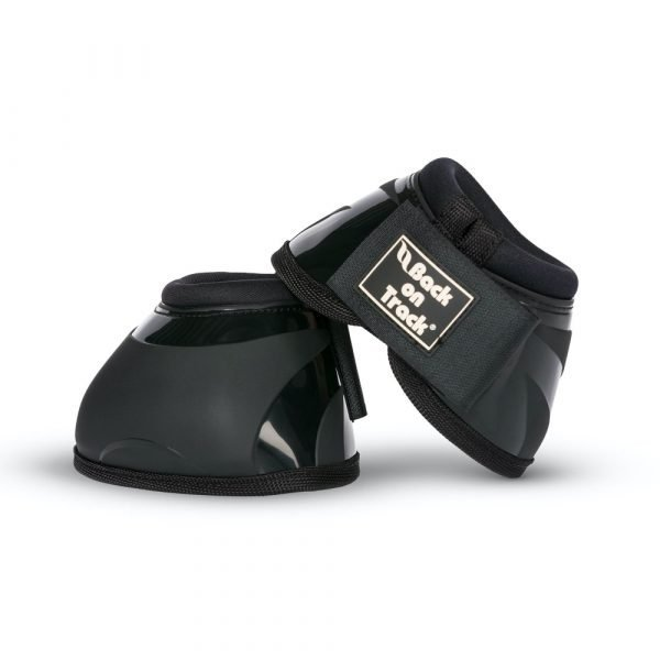 Back-on-Track-Equine-Bell-Boots-Performance-Black-1