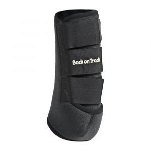 Back-on-Track-Exercise-Boots-Wraps-Black-Front-Hind