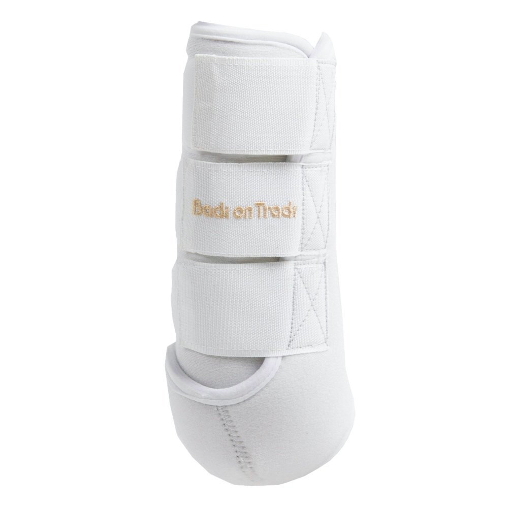 Back-on-Track-Exercise-Boots-Wraps-White-Front-Hind-4