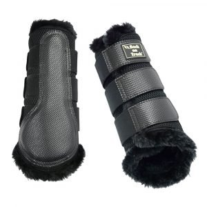 Back-on-Track-Neoprene-Mesh-Brushing-Boots-with-faux-fur-Black-2