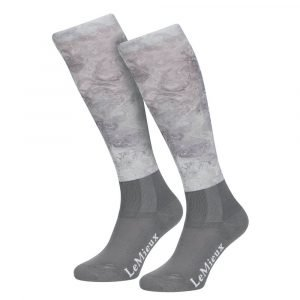 LeMieux-Glace-Socks-Grey