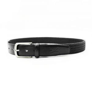 Fager-Elasticated-Leather-Belt-Black-Black-1
