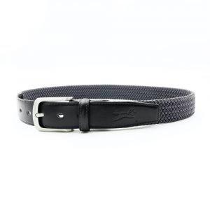 Fager-Elasticated-Leather-Belt-Black-Grey-2