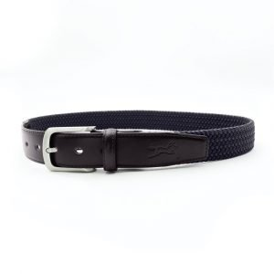 Fager-Elasticated-Leather-Belt-Brown-Navy-1