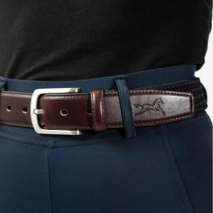 Fager-Elasticated-Leather-Belt-Brown-Navy-3