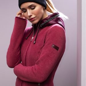 Pikeur-Antonia-Ladies-Fleece-Hoody-Grey-Chilli-Melange-Image-1