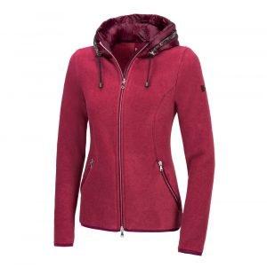 Pikeur-Antonia-Ladies-Fleece-Hoody-Grey-Chilli-Melange-Image-5