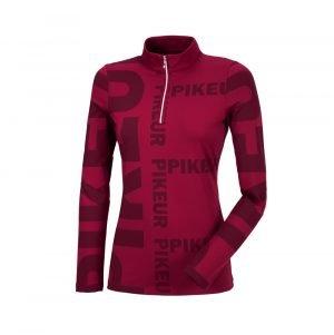 Pikeur-Ennie-Ladies-Long-SLeeve-Top-Chili-Image-1
