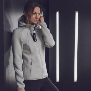 Pikeur-Myra-Ladies-Material-Mix-Jacket-Mint-Grey-Image-1