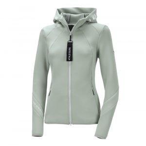 Pikeur-Myra-Ladies-Material-Mix-Jacket-Mint-Grey-Image-2