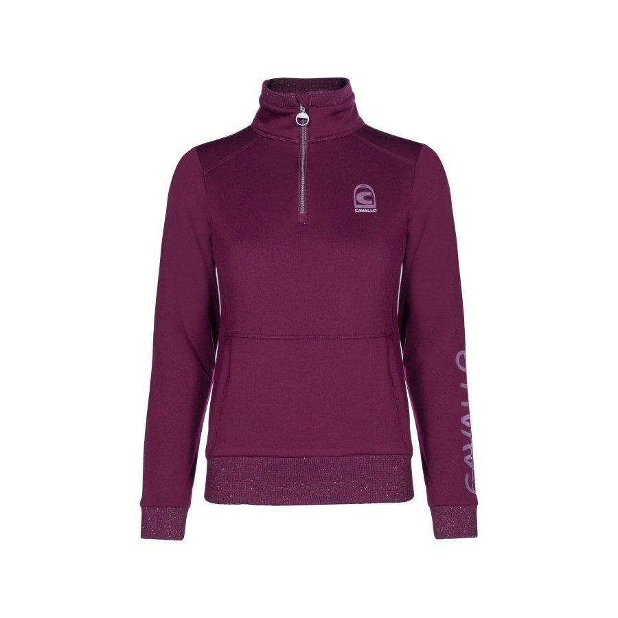 Cavallo-Bela-Ladies-Half-Zip-Sweatshirt-Rubin-2