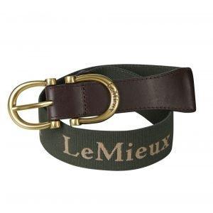 LeMieux-Elasticated-Belt-Oak-Green