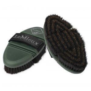 LeMieux-Flexi-Horse-Hair-Body-Brush-Oak-Green
