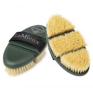 LeMieux-Flexi-Scrubbing Brush-Oak-Green