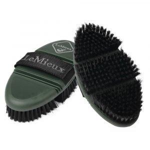 LeMieux-Flexi-Soft-Body-Brush-Oak-Green