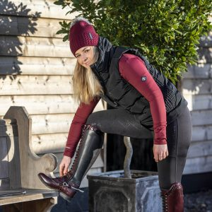 LeMieux-Winter-Pull-On-Seamless-Breeches-Brown-Black-Port-Lifestyle-Image-3